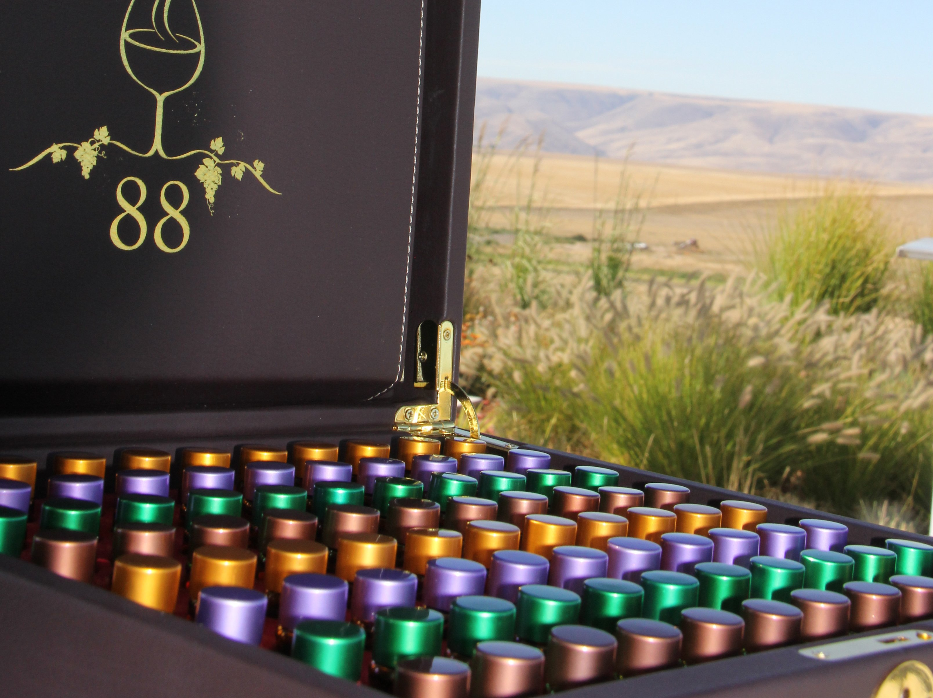 The 88-aroma scent box is there to increase your enjoyment of the many wines you will taste while on the Twisted Vine Wine Tour